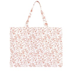 Hand Drawn Seamless Floral Ornamental Background Large Tote Bag