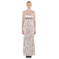 Hand Drawn Seamless Floral Ornamental Background Maxi Thigh Split Dress