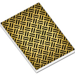 Woven2 Black Marble & Gold Brushed Metal (r) Large Memo Pads