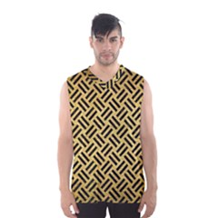 Woven2 Black Marble & Gold Brushed Metal (r) Men s Basketball Tank Top