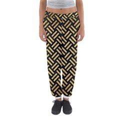 WOV2 BK MARBLE GOLD Women s Jogger Sweatpants