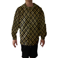 Woven2 Black Marble & Gold Brushed Metal Hooded Wind Breaker (kids)