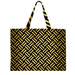 WOV2 BK MARBLE GOLD Large Tote Bag