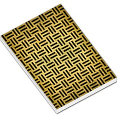 Woven1 Black Marble & Gold Brushed Metal (r) Large Memo Pads