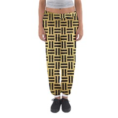 WOV1 BK MARBLE GOLD (R) Women s Jogger Sweatpants