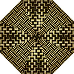 Woven1 Black Marble & Gold Brushed Metal Golf Umbrella