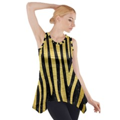 SKN4 BK MARBLE GOLD (R) Side Drop Tank Tunic