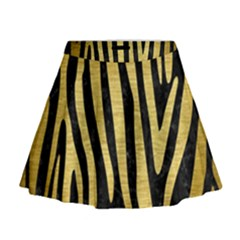 SKN4 BK MARBLE GOLD (R) Mini Flare Skirt