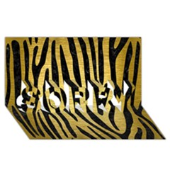 Skin4 Black Marble & Gold Brushed Metal Sorry 3d Greeting Card (8x4)