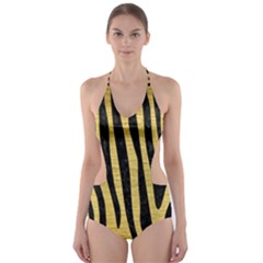 SKN4 BK MARBLE GOLD Cut-Out One Piece Swimsuit