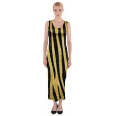 SKN4 BK MARBLE GOLD Fitted Maxi Dress