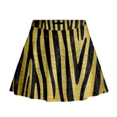 SKN4 BK MARBLE GOLD Mini Flare Skirt