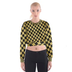 HTH2 BK MARBLE GOLD Women s Cropped Sweatshirt