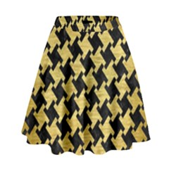 HTH2 BK MARBLE GOLD High Waist Skirt