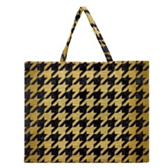 HTH1 BK MARBLE GOLD Zipper Large Tote Bag