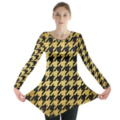 HTH1 BK MARBLE GOLD Long Sleeve Tunic