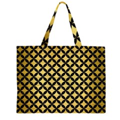CIR3 BK MARBLE GOLD (R) Large Tote Bag