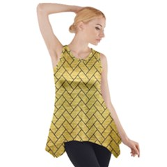 BRK2 BK MARBLE GOLD (R) Side Drop Tank Tunic