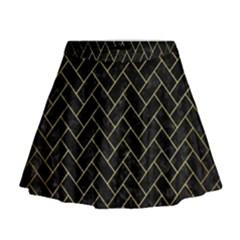 BRK2 BK MARBLE GOLD Mini Flare Skirt