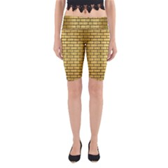 BRK1 BK MARBLE GOLD (R) Yoga Cropped Leggings