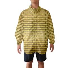 Brick1 Black Marble & Gold Brushed Metal (r) Wind Breaker (kids)