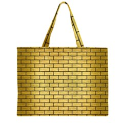 BRK1 BK MARBLE GOLD (R) Large Tote Bag