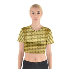 BRK1 BK MARBLE GOLD (R) Cotton Crop Top