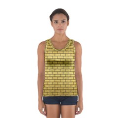 Brick1 Black Marble & Gold Brushed Metal (r) Sport Tank Top