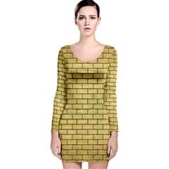 BRK1 BK MARBLE GOLD (R) Long Sleeve Velvet Bodycon Dress