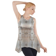 Romantic Pattern from Sea Shells Summer, Festive Wedding Bridal Side Drop Tank Tunic