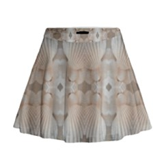 Romantic Pattern from Sea Shells Summer, Festive Wedding Bridal Mini Flare Skirt