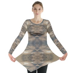 Wildlife Brown Black Long Sleeve Tunic