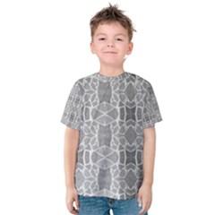 Grey White Tiles Geometric Stone Mosaic Tiles Kid s Cotton Tee