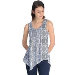 Grey White Tiles Geometric Stone Mosaic Tiles Sleeveless Tunic