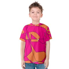 Funny Hot Pink Orange Kids Art Kid s Cotton Tee