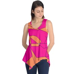 Funny Hot Pink Orange Kids Art Sleeveless Tunic