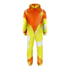 Sunny Orange Yellow Flame Hooded Jumpsuit (kids)