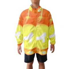 Sunny Orange Yellow Flame Wind Breaker (kids)