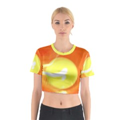 Sunny Orange Yellow Flame Cotton Crop Top