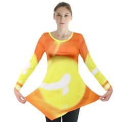 Sunny Orange Yellow Flame Long Sleeve Tunic