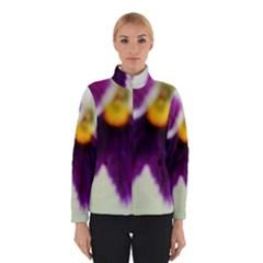 Purple Violet White Flower  Winterwear