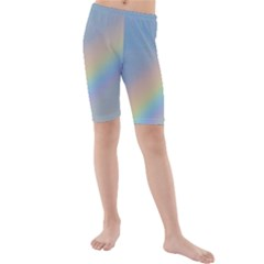 Colorful Natural Rainbow Kid s Mid Length Swim Shorts