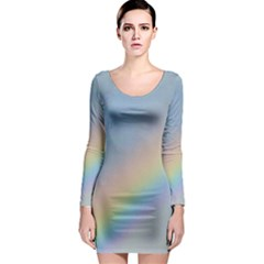 Colorful Natural Rainbow Long Sleeve Bodycon Dress