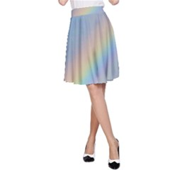 Colorful Natural Rainbow A Line Skirt