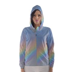 Colorful Natural Rainbow Hooded Wind Breaker (women)
