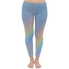Colorful Natural Rainbow Winter Leggings