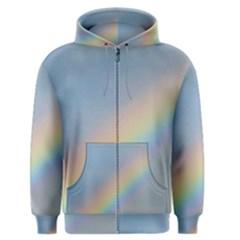 Colorful Natural Rainbow Men s Zipper Hoodie