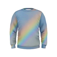 Colorful Natural Rainbow Kids  Sweatshirt