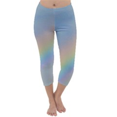 Colorful Natural Rainbow Capri Winter Leggings