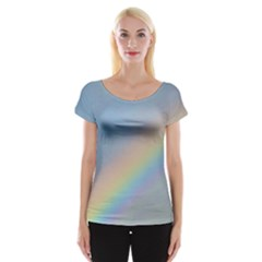 Colorful Natural Rainbow Women s Cap Sleeve Top